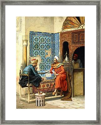 The Chess Game Framed Print