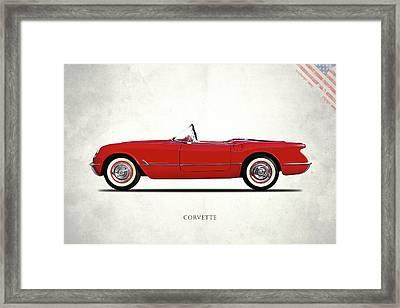 The Chevrolet Corvette 1954 Framed Print by Mark Rogan