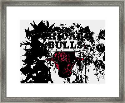The Chicago Bulls  Framed Print by Brian Reaves