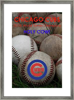 The Chicago Cubs - Holy Cow Framed Print