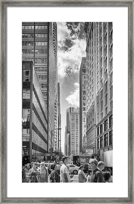 Framed Print featuring the photograph The Chicago Loop by Howard Salmon