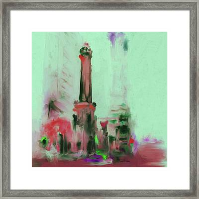 The Chicago Water Tower 535 4 Framed Print by Mawra Tahreem