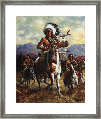The Chief Framed Print by Harvie Brown