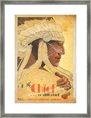 The Chief Train - Vintage Poster Folded Framed Print