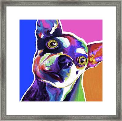 The Chihuahua By Nixo Framed Print