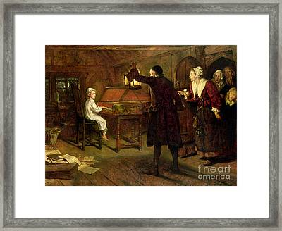 The Child Handel Discovered By His Parents Framed Print