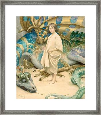 The Child In The World Framed Print by Thomas Cooper Gotch