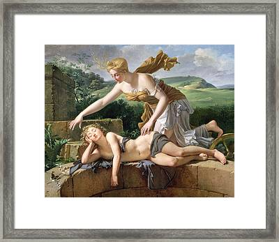 The Child Of Fortune Framed Print by Pierre Bouillon