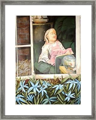 The Child Sleep - L'enfant Do Framed Print
