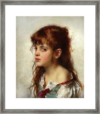 The Child With Red Hair  Framed Print by Georgiana Romanovna