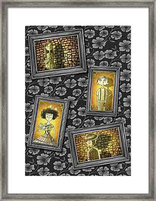 The Children In The Photographs              Framed Print by Andrew Hitchen