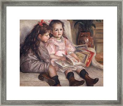 The Children Of Martial Caillebotte Framed Print by Pierre Auguste Renoir
