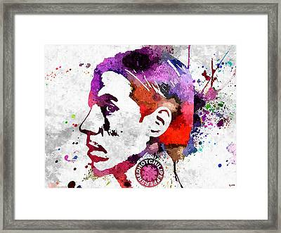 The Chili Peppers Anthony Grunge Framed Print by Daniel Janda