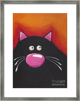 The Chilling Cat  Framed Print