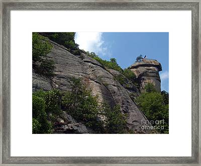 The Chimney At Chimney Rock State Park Nc Framed Print