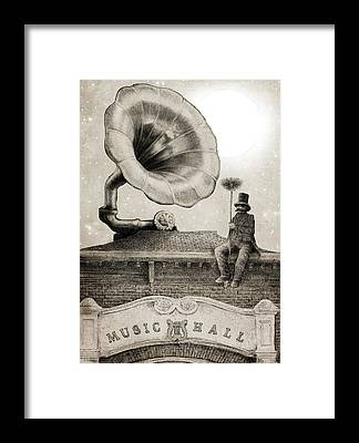 Gramophone Framed Prints