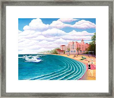 The China Clipper Framed Print by Tracy Dennison