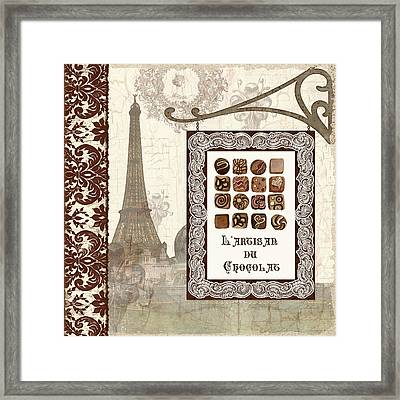 The Chocolate Artisan - Paris Framed Print