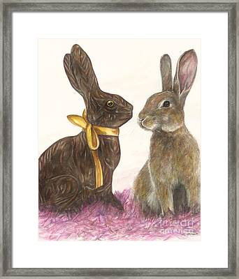 The Chocolate Imposter Framed Print