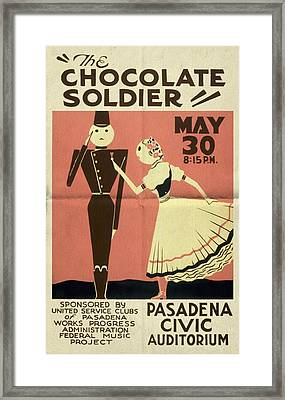 The Chocolate Soldier - Vintage Poster Folded Framed Print
