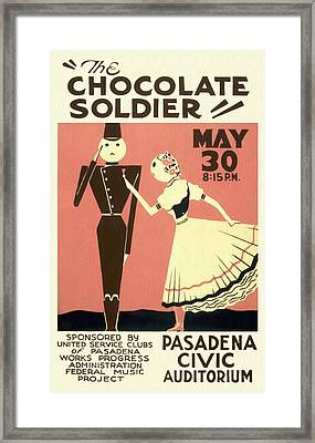 The Chocolate Soldier - Vintage Poster Restored Framed Print