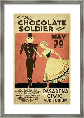 The Chocolate Soldier - Vintage Poster Vintagelized Framed Print