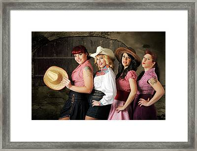 The Chorus Line Framed Print
