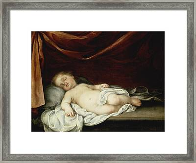 The Christ Child Asleep Framed Print by Bartolome Esteban Murillo