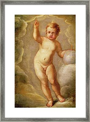 The Christ Child, Savior Of The Earth Framed Print