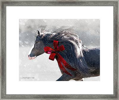 The Christmas Beau Framed Print by Terry Kirkland Cook