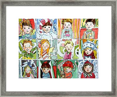 The Christmas Cousins Framed Print by Mindy Newman