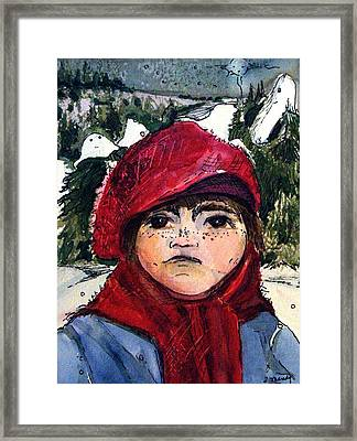 The Christmas Dreamer Framed Print by Mindy Newman