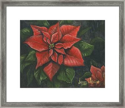 The Christmas Flower Framed Print