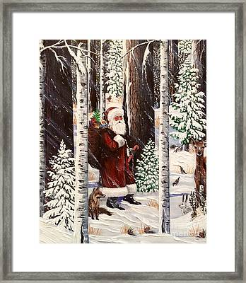 The Christmas Forest Visitor 2 Framed Print