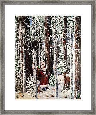 The Christmas Forest Visitor Framed Print