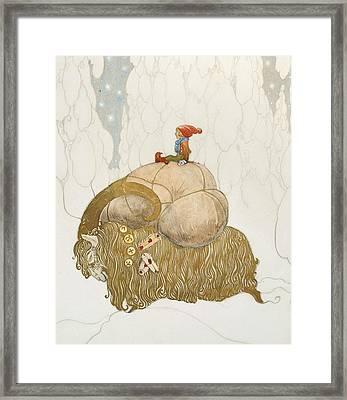 The Christmas Goat  Framed Print