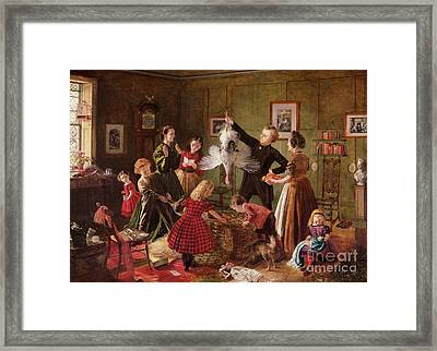 The Christmas Hamper Framed Print