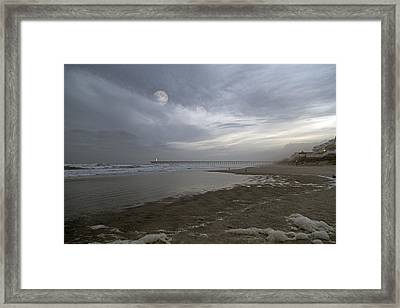The Christmas Moon Framed Print