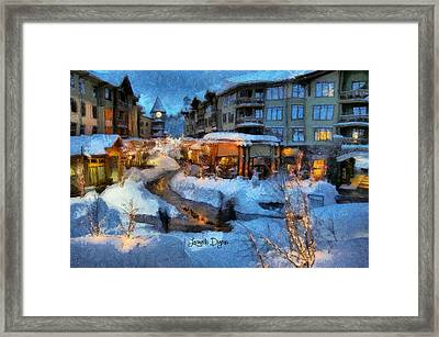 The Christmas Night - Da Framed Print by Leonardo Digenio