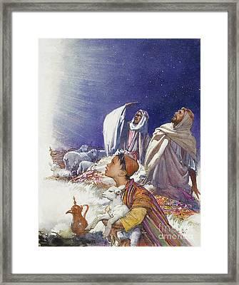 The Christmas Story The Shepherds' Tale Framed Print by John Millar Watt