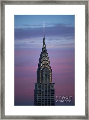 The Chrysler Building At Dusk Framed Print by Diane Diederich