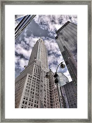 The Chrysler Building In Nyc Usa Framed Print by Robert Ponzoni