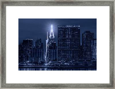 Framed Print featuring the photograph The Chrysler Star by Theodore Jones