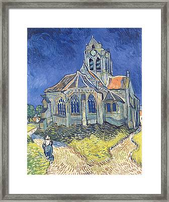 The Church At Auvers Sur Oise Framed Print by Vincent Van Gogh