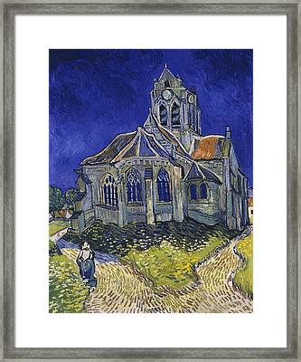 Framed Print featuring the painting The Church At Auvers by Van Gogh