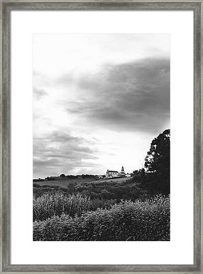 The Church At Salga Azores Portugal Framed Print
