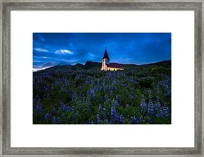 The Church At Vik Framed Print