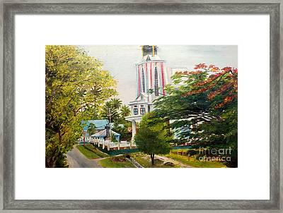 The Church In My Village Framed Print by Jason Sentuf