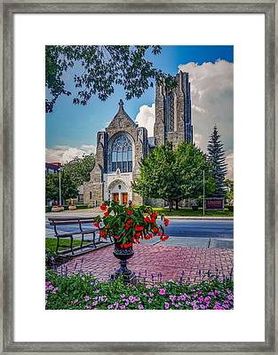 The Church In Summer Framed Print
