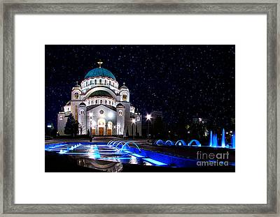 The Church Of Saint Sava Belgrade Framed Print